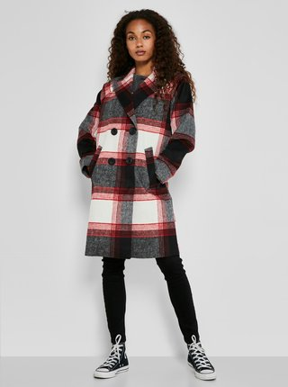 Kabáty pre ženy Noisy May - čierna, červená