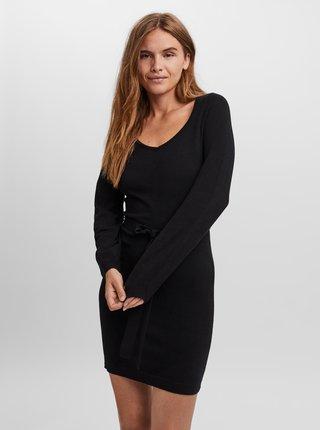 Černé svetrové puzdrové šaty VERO MODA Karma