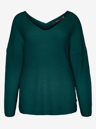 Zelený sveter VERO MODA CURVE Lea