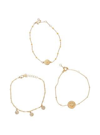 Sada tří náramků ve zlaté barvě Pieces Ara