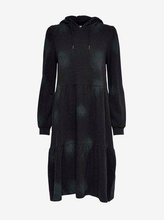 Černé mikinové šaty s kapucí Jacqueline de Yong Fia