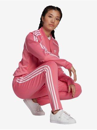 Nohavice pre ženy adidas Originals - ružová