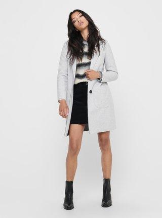 Svetlošedý kabát Jacqueline de Yong Bondy