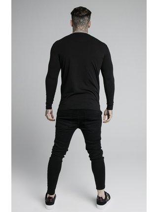 Černé pánské tričko TEE GYM HEM STRAIGHT L/S