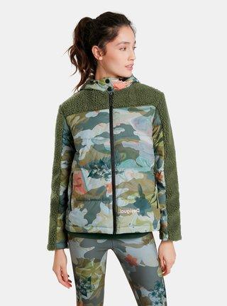 Zeleno-kaki dámska zimná bunda Desigual Hanna