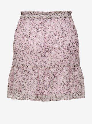 Růžová vzorovaná sukňa Jacqueline de Yong Time