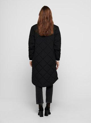 Čierny prešívaný ľahký kabát Jacqueline de Yong Diana