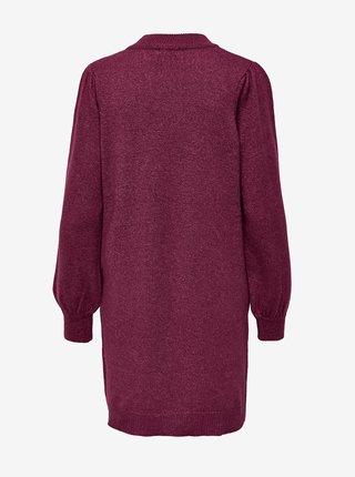 Vínové svetrové šaty Jacqueline de Yong Rue
