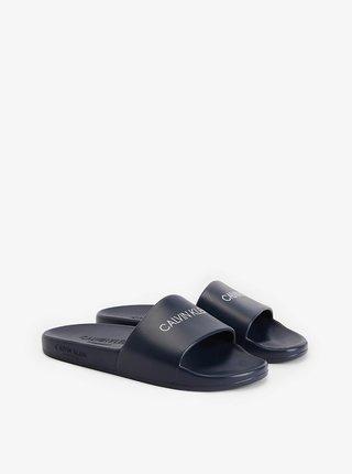 Calvin Klein tmavě modré pantofle One Mold Slide