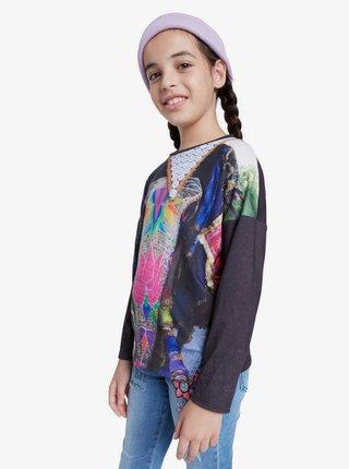 Desigual barevné dívčí tričko TS Tulancingo