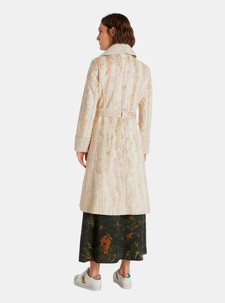 Béžový dámský vzorovaný lehký kabát Desigual Marvelous
