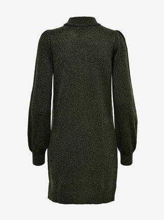 Tmavě zelené svetrové šaty Jacqueline de Yong Rue