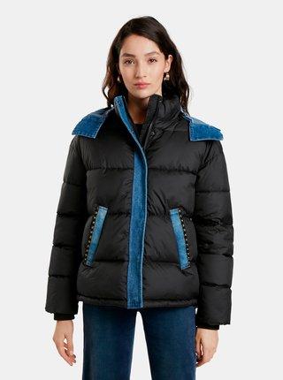Modro-černá dámská zimní bunda Desigual Austen