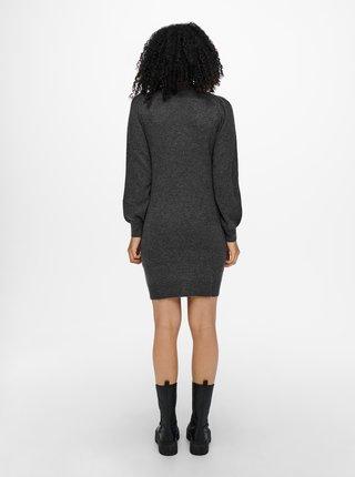 Mikinové a svetrové šaty pre ženy Jacqueline de Yong - vínová