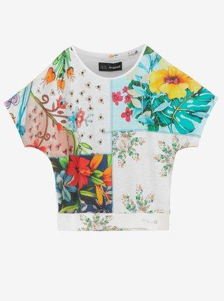 Desigual barevné dívčí tričko TS Copenhague