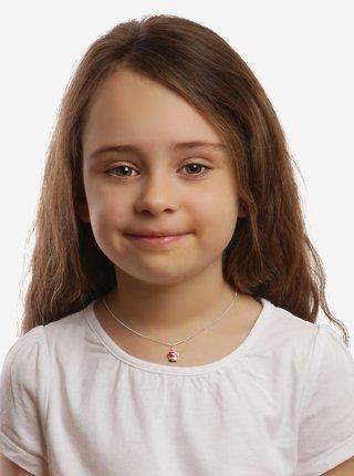 Dětský stříbrný přívěsek na řetízku Muchomůrka Agátka PRAQIA