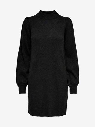 Černé svetrové šaty Jacqueline de Yong Rue