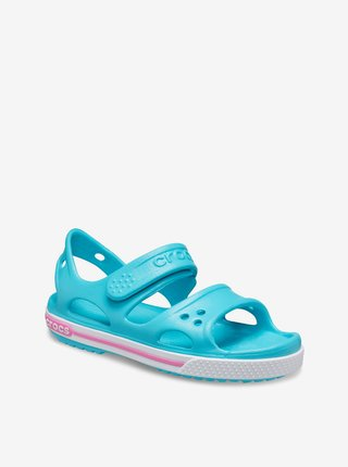 Crocs tyrkysové dievčenské sandále Crocband II Sandal PS Digital Aqua