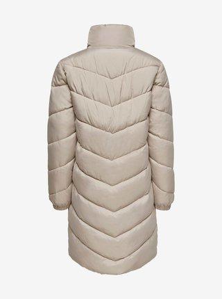 Béžový zimní prošívaný kabát Jacqueline de Yong New Finno