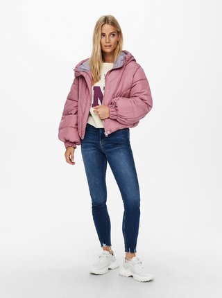 Ružová zimná prešívaná bunda Jacqueline de Yong Destiny