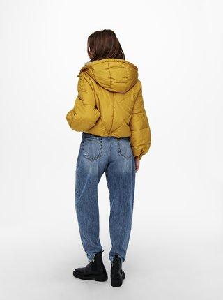 Žltá zimná prešívaná bunda Jacqueline de Yong Destiny
