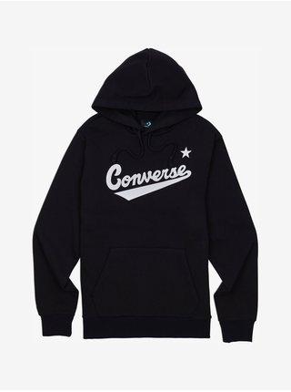 Mikiny s kapucou pre mužov Converse - čierna