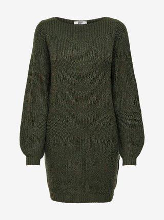 Tmavě zelené svetrové šaty Jacqueline de Yong Whitney