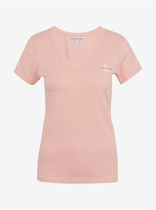 Tričká s krátkym rukávom pre ženy Calvin Klein - ružová