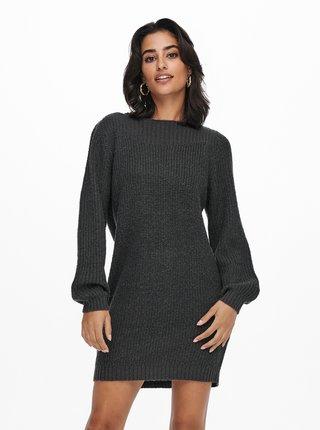 Tmavě šedé svetrové šaty Jacqueline de Yong Whitney
