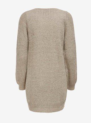 Béžové svetrové šaty Jacqueline de Yong Whitney