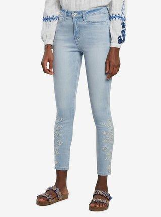 Desigual modré džíny Denim Crown