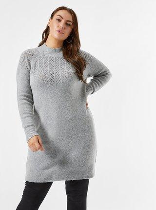 Šedé svetrové šaty Dorothy Perkins Curve