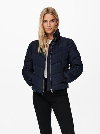 Tmavě modrá zimní prošívaná bunda Jacqueline de Yong Finno