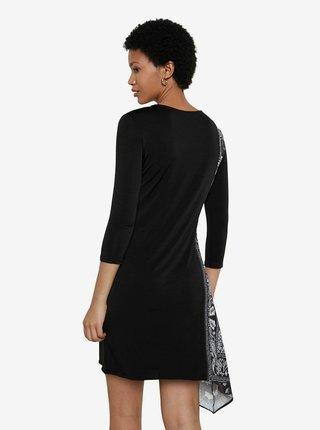 Desigual černé šaty Vest Los Angeles