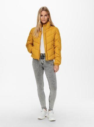 Žlutá zimní prošívaná bunda Jacqueline de Yong Finno