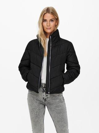 Černá zimní prošívaná bunda Jacqueline de Yong Finno