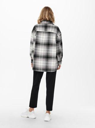 Bielo-čierna kockovaná košeľová bunda Jacqueline de Yong Toby