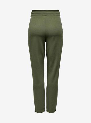 Khaki kalhoty se zavazováním Jacqueline de Yong Tanja