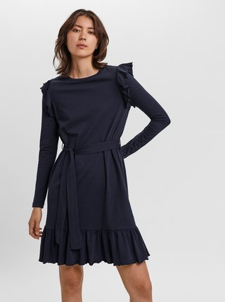 Tmavomodré šaty AWARE by VERO MODA Nella