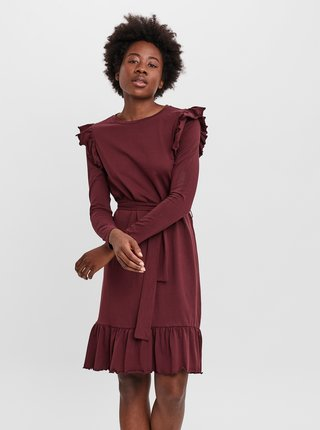 Vínové šaty AWARE by VERO MODA Nella