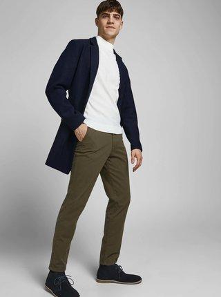 Tmavě modrý kabát s příměsí vlny Jack & Jones Moulder