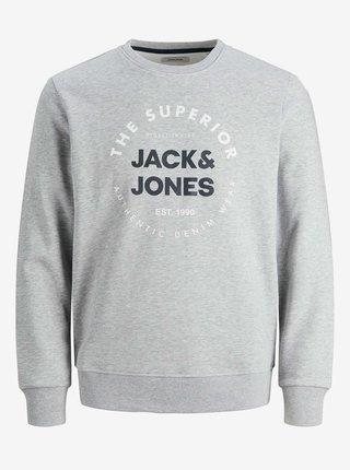 Světle šedá mikina Jack & Jones Herro