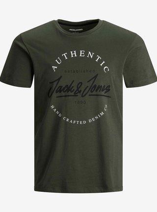 Khaki tričko Jack & Jones Herro