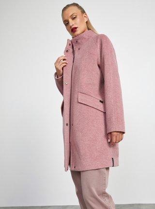 Růžový dámský zimní kabát METROOPOLIS Tiffany