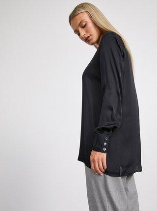 Černá dámská dlouhá košile METROOPOLIS Angela