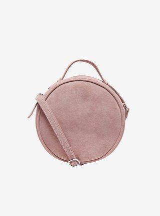 Světle růžová semišová crossbody kabelka ONLY Alison