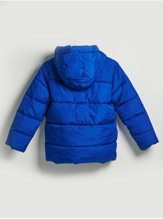 Modrá klučičí bunda hřejivá prošívaná