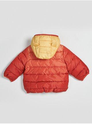 Oranžová holčičí bunda prošívaná