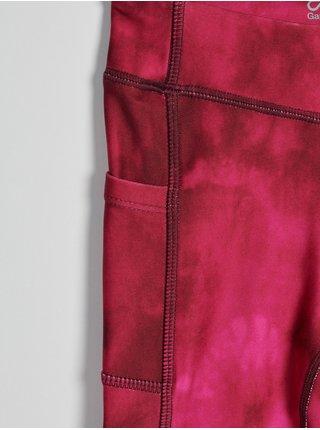 Červené holčičí legíny batikované