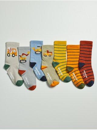 Barevné klučičí vysoké ponožky, 7 párů